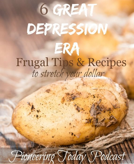 Tired of the rising cost of groceries? The Great Depression Era frugal tips and recipes show how to use potatoes to stretch your food dollars, including how to use potato water in place of milk in your baking. I love the 1920's recipes and learning how to increase my independence from the grocery stores!