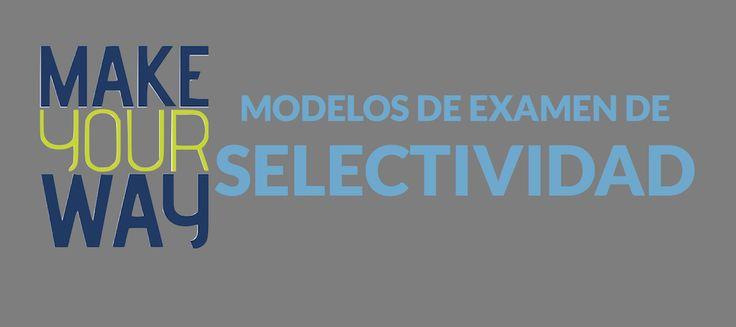 ¡Ya no queda nada para la #selectividad2016! Te dejamos todos los modelos de examen de selectividad por asignaturas y Comunidades Autónomas para que puedas practicar. http://makeyourway.es/modelos-de-examenes-de-selectividad/