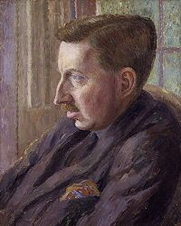 E. M. Forster, by Dora Carrington c. 1924-1925 could this man spin a tale member of Bloomsbury
