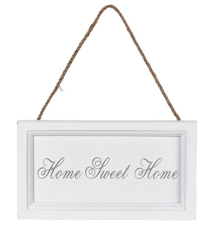 Decoratiebord met Home Sweet Home tekst #words