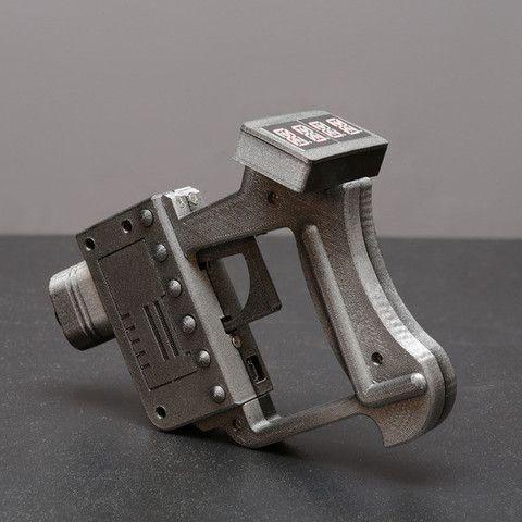 3D Ultrasonic Ruler Ray Gun, Adafruit