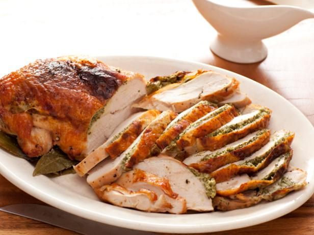 Rachael's Herb Roasted Turkey Breast : Have a flavor-packed turkey on the table in less than an hour by cooking two boneless turkey breasts instead of a whole turkey.