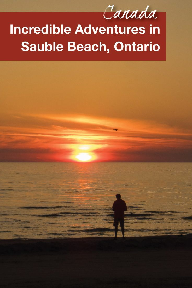 Sauble Beach in Ontario, Canada is hosts one of the best sunsets. Perfect for a romantic getaway or a family vacation with kids, Sauble Beach makes for an amazing getaway.