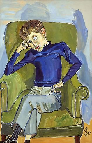 Alice Neel (1900 - 1984)  DAVID 1968  Oil on canvas  46 x 30 inches  116.8 x 76.2 centimeters