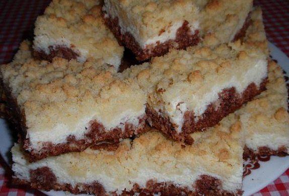 Drobenkový kokosový koláč s tvarohem