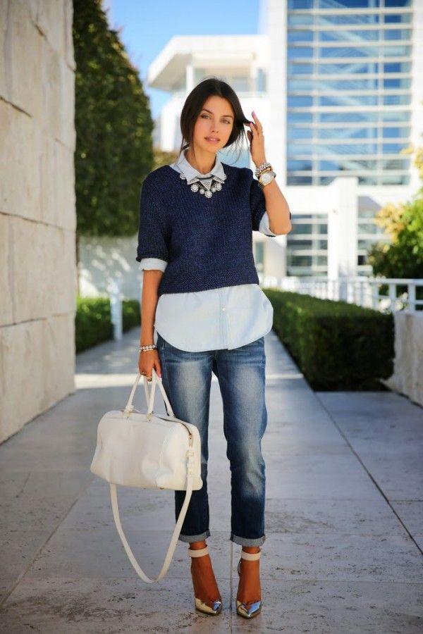 Тренд: как носить укороченный свитер 2