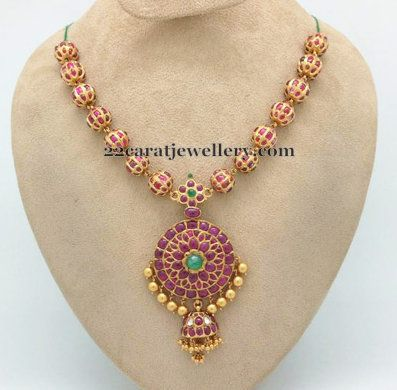 Pota Ruby necklace for All ages - Jewellery Designs