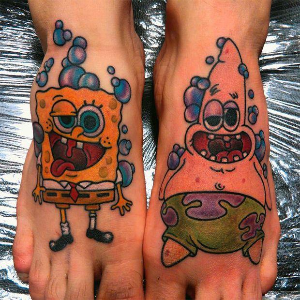 15 Tatuagens Do Desenho Bob Esponja Com Imagens Bob Esponja