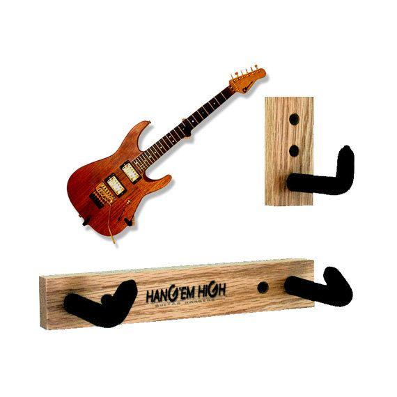 NU chêne angulaire de guitare support mural pour guitare - accrocher votre guitare sur le mur à un angle.