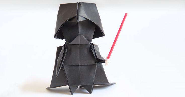 Cómo hacer un Darth Vader de origami | Bored Panda