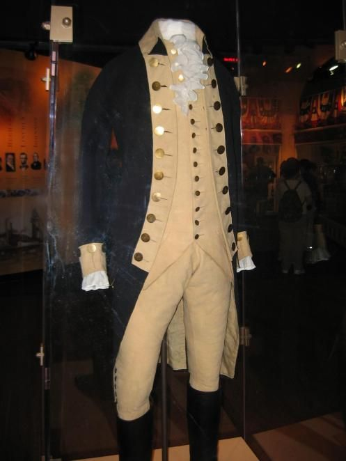 George Washington's Uniform that he wore during the Revolutionary War  (copyright 2010 by Kristin Hopper)