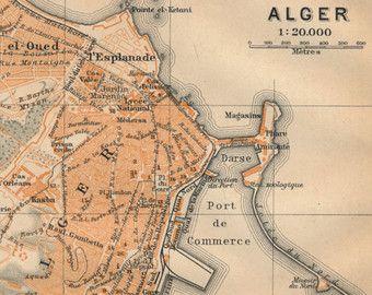Tenir pour carte AM Antique Alger Algérie 1830 par chemindesmuguets