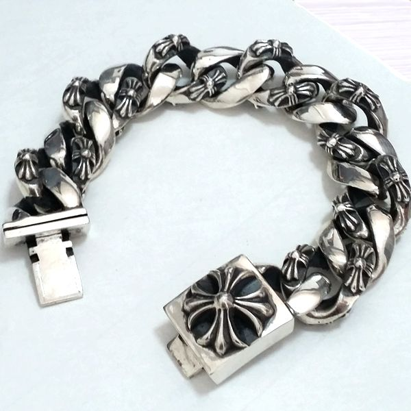CHROME HEARTS/BRACELET FLORAL CROSS ID                              …