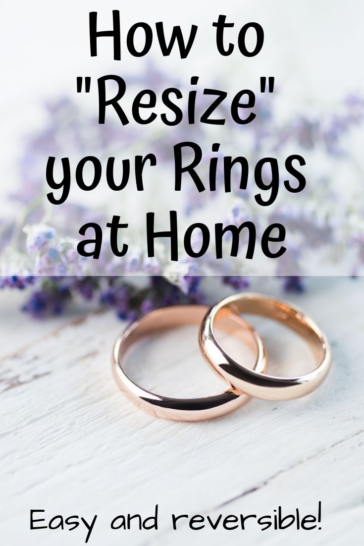 How To Resize Your Ring At Home Comfortable Pretty Way To Make