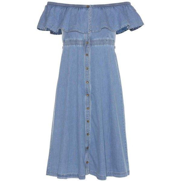 Tommy Hilfiger Denim Dress ($375) ❤ liked on Polyvore featuring dresses, blue, short, denim dress, short dresses, tommy hilfiger, short blue dress and blue dress