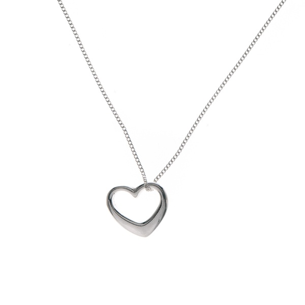Sterling silver floating heart necklace.  http://www.essentialjewellers.com/sterling-silver-threaded-heart-necklace