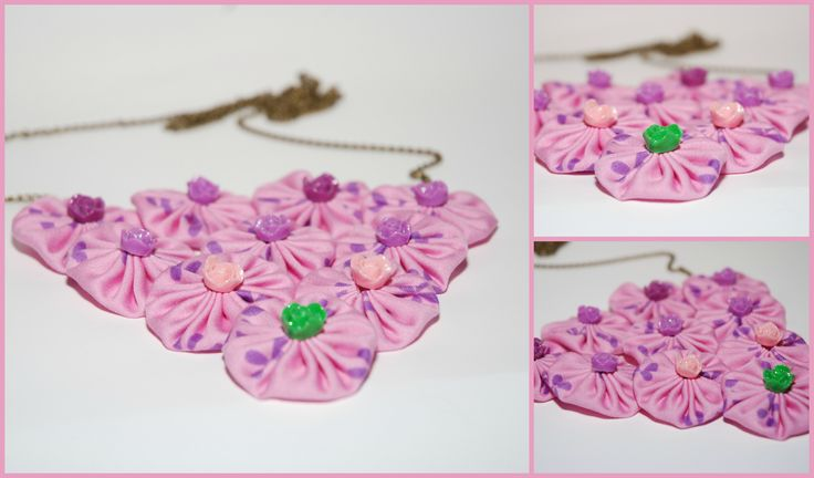PINK FABRIC NECKLACE