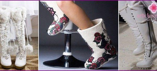 Зимняя свадебная обувь: как правильно выбрать на каблуке или без него, варианты обуви для невесты, фото