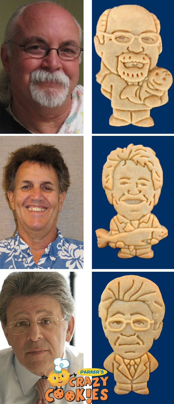 Gifts for guys!! Create a custom cookie of your favorite man for any special occasion. Discover the magic at www.parkerscrazycookies.com As seen on the Food Network Channel.