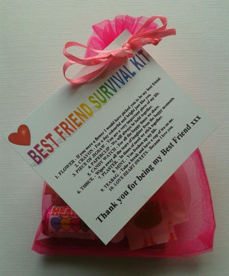 Details about BEST FRIEND Survival Kit Birthday Keepsake Gift Present Christmas…