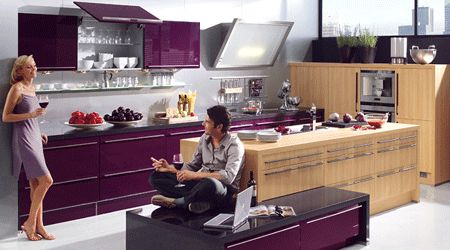 Wine Kitchen Colors, Modern Kitchens Color Combinations - for the new ranch?  Until we can get rid of the burgundy tile...