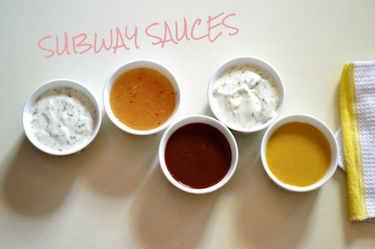 Homemade Subway Sauces