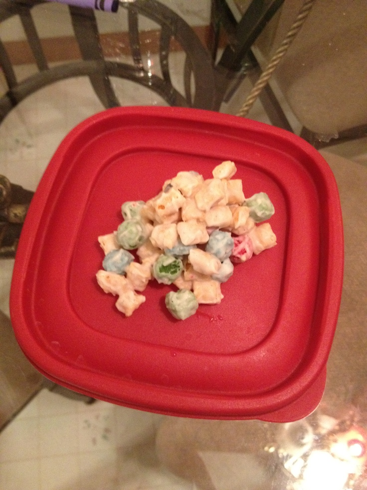 Captain crunch no bake cookies. 2 ingredients: melted almond bark and captain crunch berry cereal, mix together, scoop spoonful portions on wax paper, allow 15 to dry hard. BEST COOKIES EVER. My family could not stop eating them!