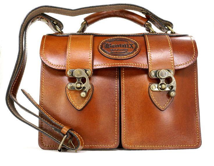 R 1'779. Beatnix Twinpack Tan Genuine Leather Handbag. Handcrafted in South Africa