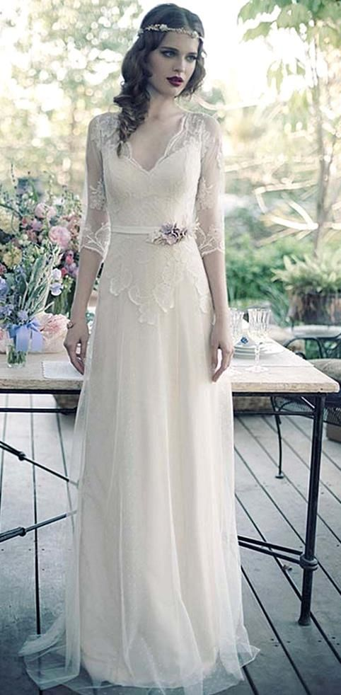 Our Gallery Of Vintage Inspired Wedding Dresses Will Show You Vintage Romance Lace Wedding Dress Vintage Elegant Wedding Dress Vintage Inspired Wedding Dresses