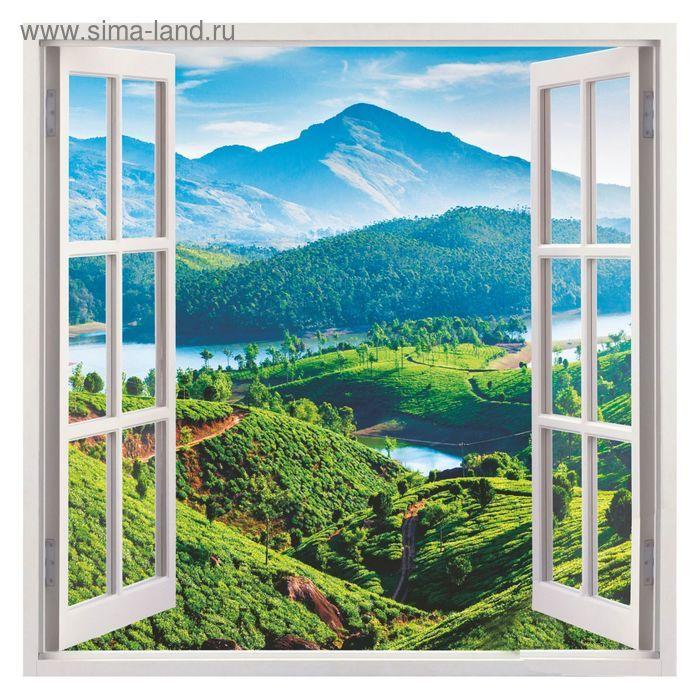 """Фотообои К-115 """"Вид из окна"""", 140*140 см"""