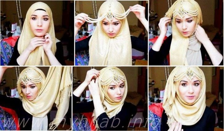 HIJAB FASHION INSPIRATION : Beautiful Jeweled Hijab Tutorial