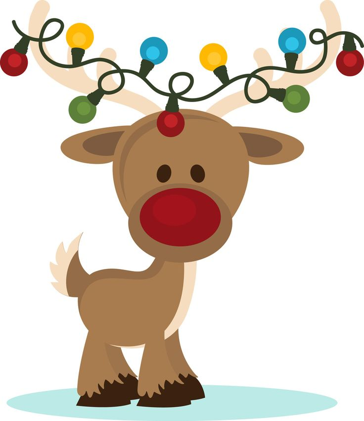 SVG files Reindeer with Christmas Lights