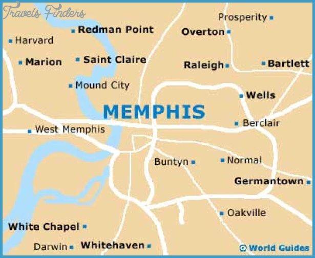 Memphis Map Tourist Attractions - http://travelsfinders.com/memphis-map-tourist-attractions.html