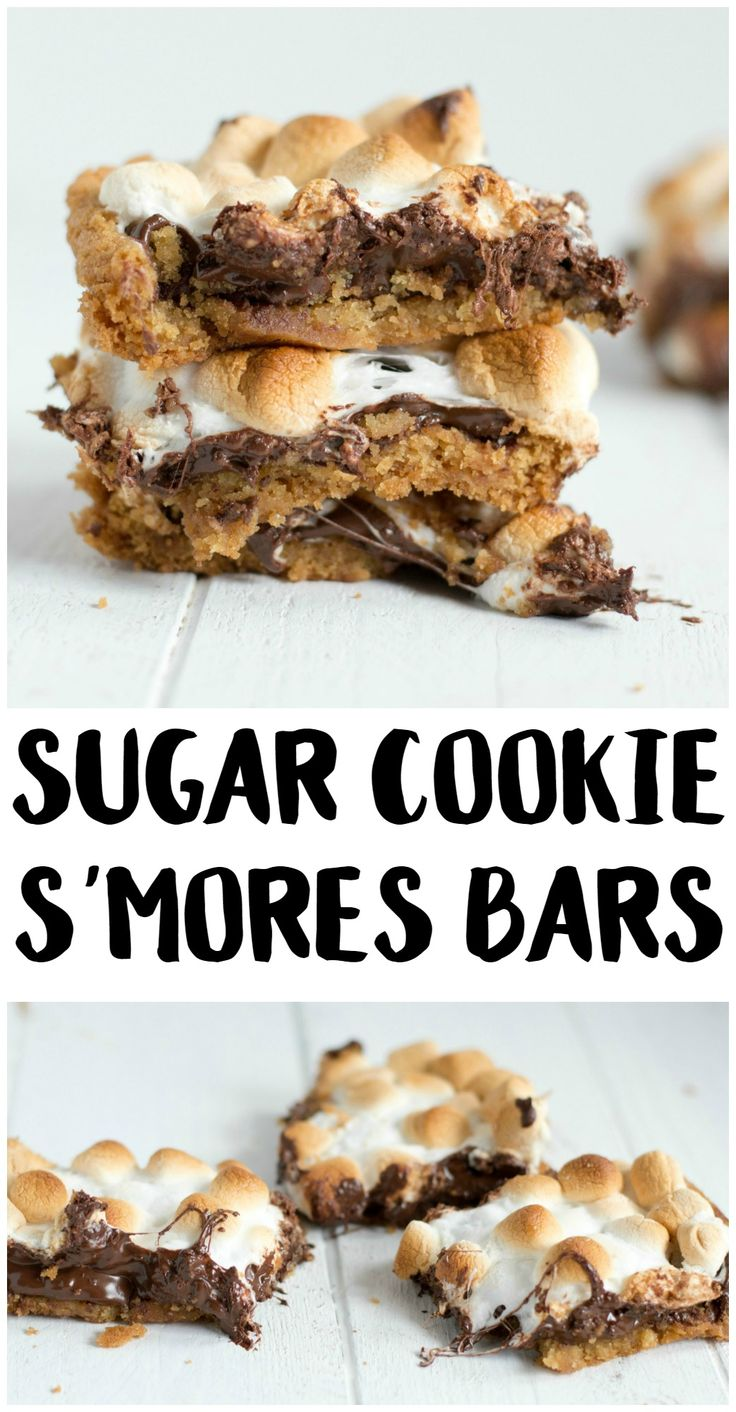 These Sugar Cookie S'mores Bars are almost as easy as they are yummy! These cookies are super soft and full of chocolate- and every bite will remind you of sitting by the campfire! They're the perfect summer dessert recipe.