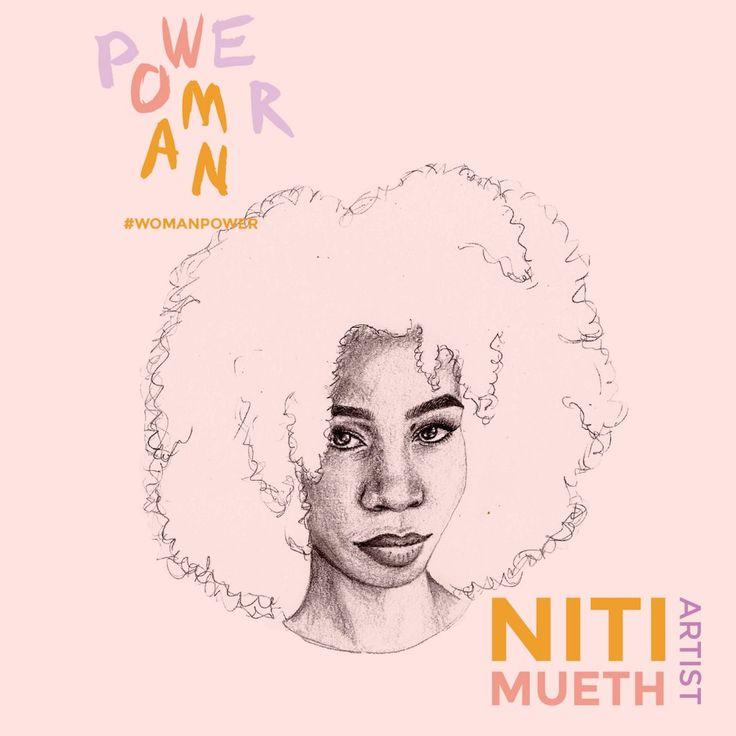 Décrite comme une activiste, Niti Mueth exprime ses opinions à travers ses œuvres. Elle prône l'acceptation de soi et dessine les injustices sociales.