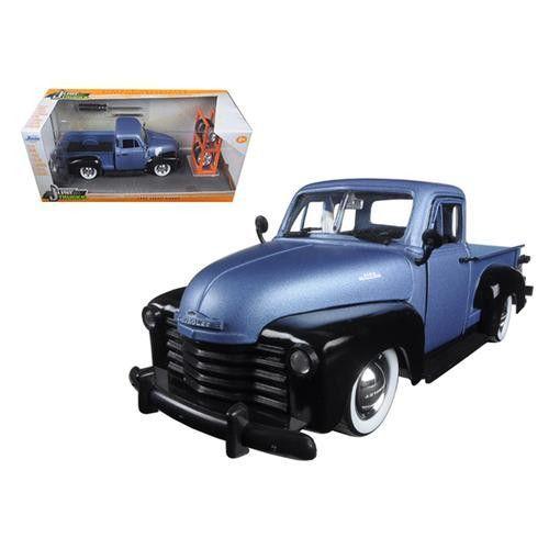 "1953 Chevrolet Pickup Truck Blue/Black ""Just Trucks"" with Extra Wheels 1/24 Diecast Model by Jada"