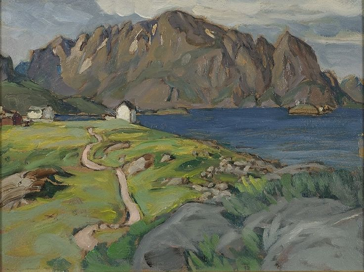 Summer, Store Molla, Lofoten by Anna Boberg. Nationalmuseum Sweden, CC BY-SA
