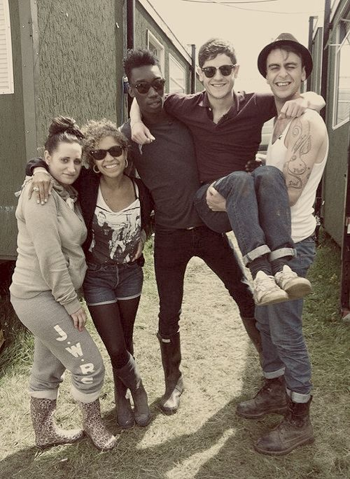 Misfits - Lauren Socha as Kelly, Antonia Thomas as Alisha, Nathan Stewart-Jarrett as Curtis, Iwan Rheon as Simon and Joseph Gilgun as Rudy.