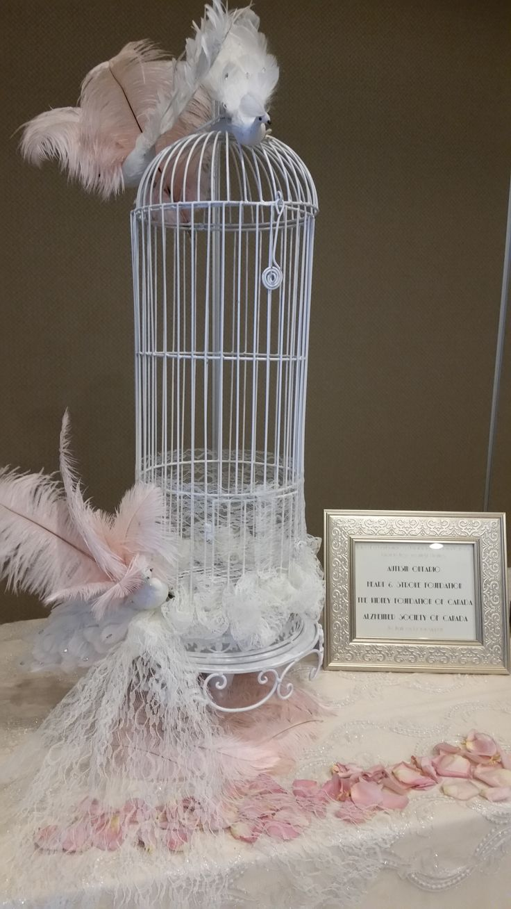 Card holder birdcage design by Timeless Creative Decor