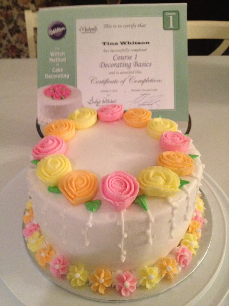 68 best images about wilton method course 1 on pinterest for Michaels craft store cake decorating classes