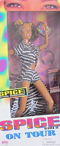 SPICE GIRLS On Tour MEL B aKa SCARY SPICE w ZEBRA OUTFIT, Mini MEL B DOLL in Box, & More OFFICIAL MERCHANDISE (1998) Spice Girls on Tour Mel B. http://www.amazon.com/dp/B00Q3G7NYQ/ref=cm_sw_r_pi_dp_1av8ub0ER14TW