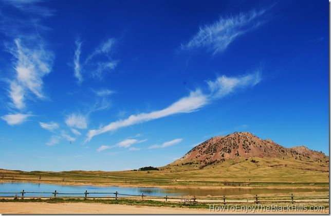 Bear Butte and Bear Butte Lake sit at the northern end of the Centennial Trail.  This 111 mile trail cuts right through the Black Hills of South Dakota.  Providing great recreation for hikers, horseriding and mountain biking. @Visit Rapid City