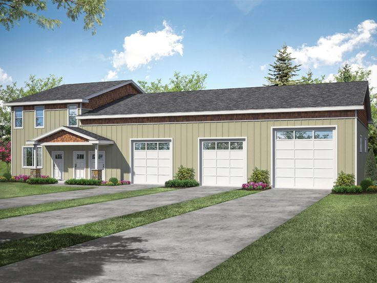 051g 0125 Over Sized Garage Plan In 2020 Garage Apartment Plans Large Garage Plans Country Style House Plans