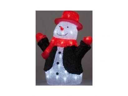 Ten wesoły bałwan ma miły uśmiech i dużo świątecznej radości z którą będzie witał gości w Twoim domu i rozjaśni zimowy ogród. Więcej na http://tetex.pl/oferta,krysztalowy-balwan-swiateczna-dekoracja,4e445933.html