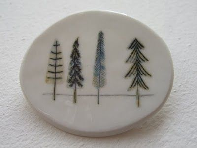 tree embroidery ideas