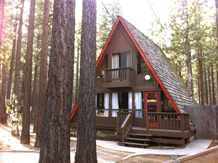 3br classic a frame vacation rental cabin in south lake for Heavenly cabin rentals