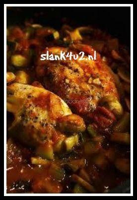 Italiaanse kip met groente - Slank4u2
