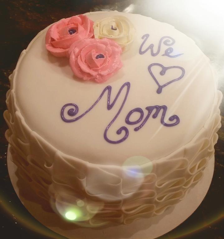 Mothers day pleated cake #mothersday #mothersdaycake