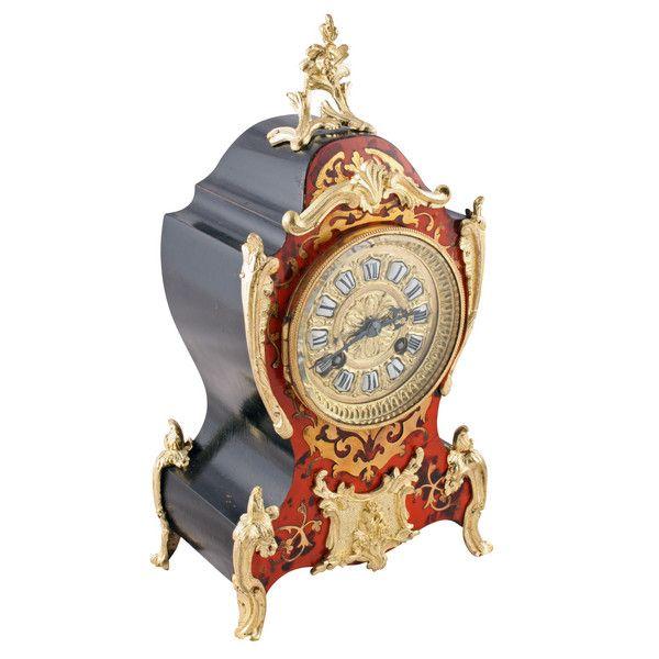 French Buhl Work Mantel Clock