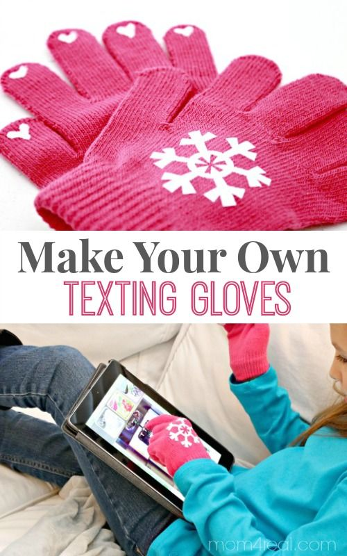 Make your own texting gloves. This is an easy, inexpensive gift idea that kids can help with. Perfect for friends and last minute gift exchanges.